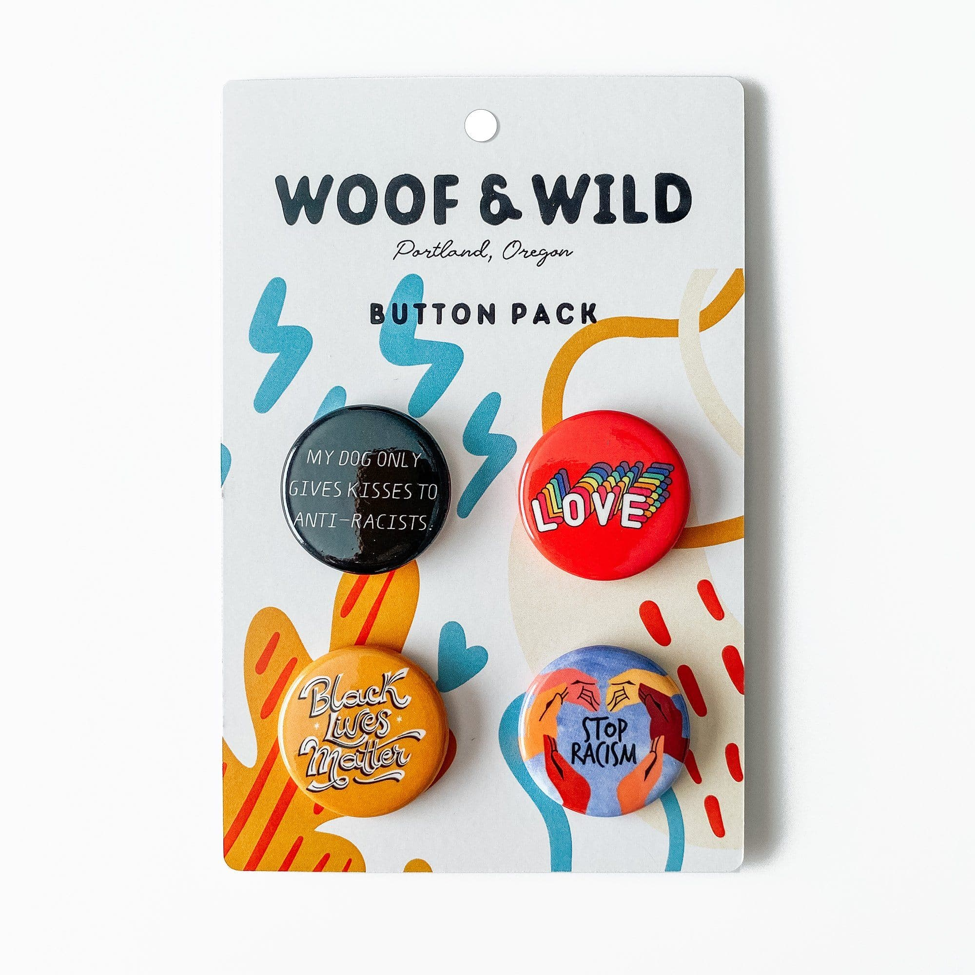 Button Pack buttons Woof & Wild