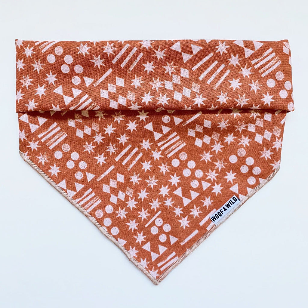 Clay Dog Bandana Woof & Wild
