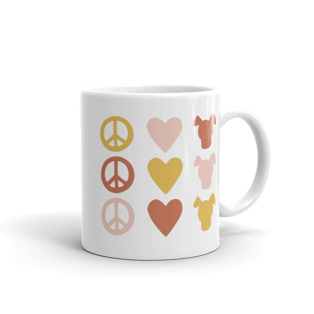 Peace Love & Dogs Icon Mug mug Woof & Wild 11oz