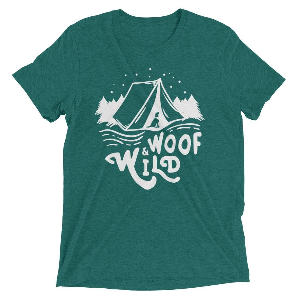 Woof & Wild Unisex Camp Tee tee Woof & Wild Teal Triblend XS