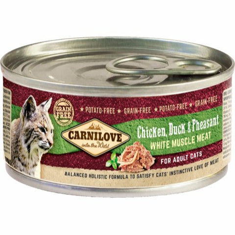 Carnilove Chicken, Duck & Pheasant Adult Cat 100g