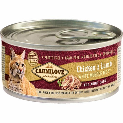 Carnilove Chicken & Lamb Adult Cat 100g
