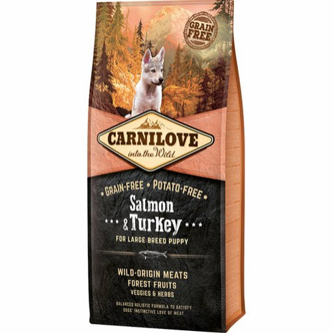 Carnilove Salmon & Turkey Large Breed Puppy 12kg
