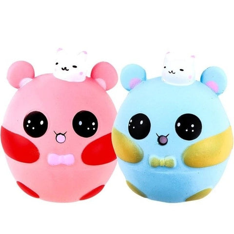 1 pcs Practical Jokes Squishy Cartoon Cute Pink
