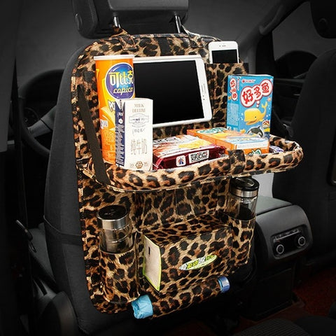 Car Seat Back Folding Organizer