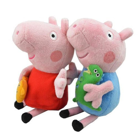 2PC Peppa and George Pig Plush Toy