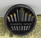 30 PCS Assorted Hand Sewing Needles Quilt Embroidery Mending Craft Sew Case - Benzi Shop
