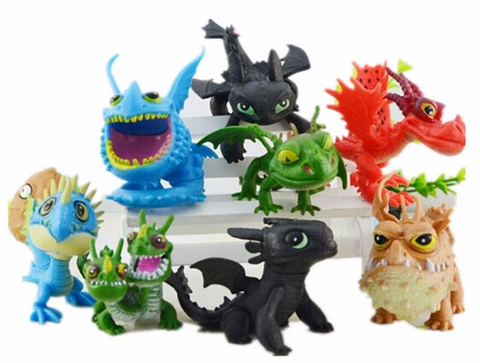 8pcs How to Train Your Dragon 2 Action Figures