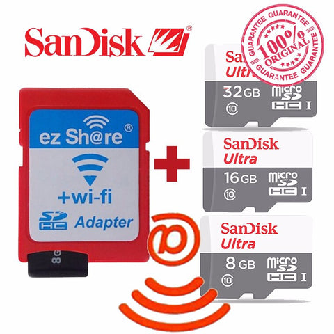 100% original ezshare Wireless wifi adapter+Sandisk