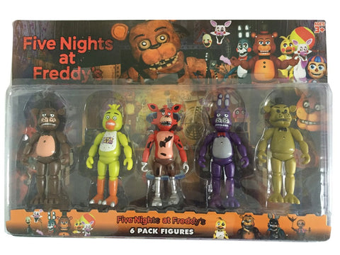 5 Pcs/ Pack 5.5 Inch Five Nights At Freddy's PVC Action Figure Toy