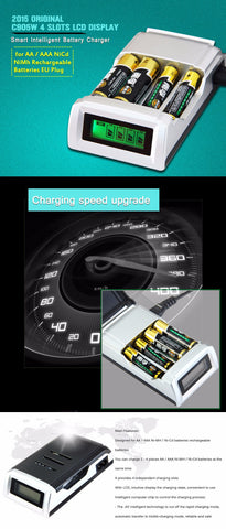 Universal C905W 4 Slots LCD Display Smart Intelligent li-ion Battery Charger