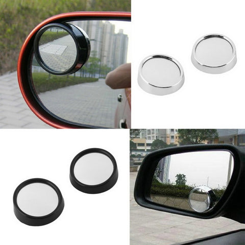 2x Cars Blind Spot Mirror Rearview 2 Side Wide Angle Round Convex