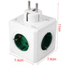 1 Piece Allocacoc Original Power Cube Socket DE Plug 5 Outlets Adapter