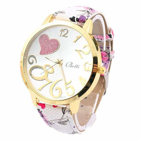 New Crystal Sweet Heart Women Watches