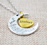 I Love You To The Moon And Back Silver Family Necklace - Benzi Shop