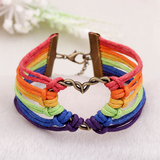 LGBT Leather Bracelet - Benzi Shop