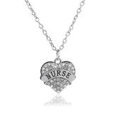Nurse Heart Pendant Necklace - Benzi Shop