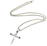 Vin Diesel Punk Statement Necklace Trendy Male Cross -  - 5