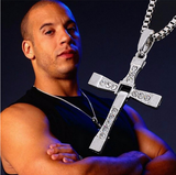 Vin Diesel Punk Statement Necklace Trendy Male Cross - Benzi Shop