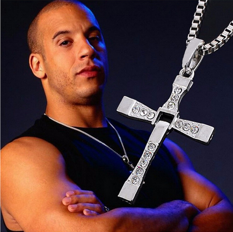 Vin Diesel Punk Statement Necklace Trendy Male Cross
