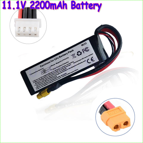 1pcs Lipo Battery 11.1V 2200Mah 3S XT60 Plug For Walkera Runner 250 250-Z-26 RC Helicopter Qudcopter Drone