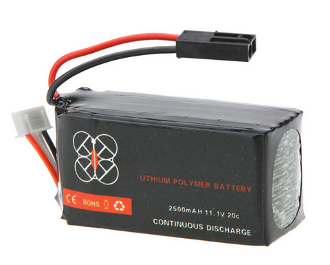 1pcs High Quality Upgrade Lipo Battery 11.1V 2500mah 20C for Parrot AR.Drone 2.0 Quadcopter Wholesale