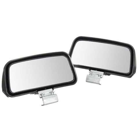 1Pair Right & Left Black Car Truck Unversal Adjustable Wide Angle Rear Mirror Rear View Blind Spot Mirror 11*7cm