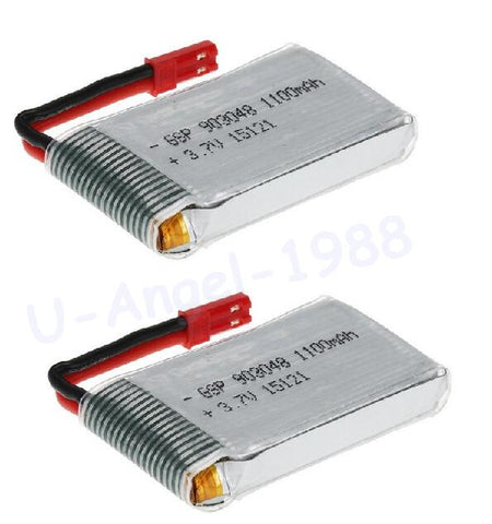 2pcs/lot 3.7V 1100mah 15C 1S VOLT Max 30C Lipo Battery Akku For RC Helicopter RC Quadcopter Drone