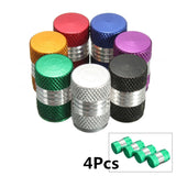 4Pcs/Set Car Motorbike Bike Alloy Tyre Wheel Rim Air Valve Caps Dust Covers Colorful - Benzi Shop