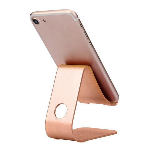 Universal Phone Holder Aluminum Metal Desk Stand 180 Degree Rotation Auto for iPhone For Samsung Cell Phone Holder#25