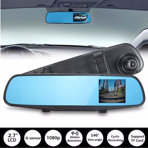 720P 2.7 Inch Car DVR Camera Half HD Dash Cam Crash Night Vision Rearview DVR G-sensor Video Recorder Dash Cam