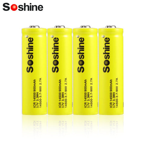 4pcs ICR 14500 3.7V 900mAh Rechargeable Li-ion Battery with Box for LED Torch Flashlight Remote Control Toy Electronic Gadgets