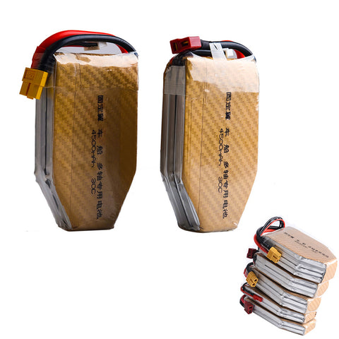 1pcs High Capacity Lipo Battery 7.4V 11.1V 14.8V 22.2V 4500mAh 30C T plug for RC Quadcopter Rc Drones Car Boat Airplane