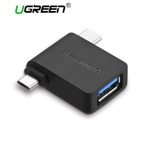 Ugreen USB OTG Adapter 2 in 1 USB 3.0 Micro USB OTG Adapter Type C Converter For Xiaomi Huawei LG USB C Adapter Android Phones