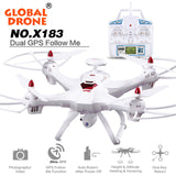 RC drone Global Drone 6-axes X183 With 2MP WiFi FPV HD Camera GPS Brushless Quadcopter Helicopter toy drop shipping