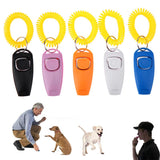 Dog Clicker Pet Training Clicker Pet Dog Cat Training Whistles Key Ring and Wrist Strap Pet Dog Trainings Products Supplies - Benzi Shop