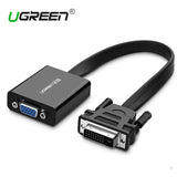 Ugreen Full HD 1080P DVI DVI-D 24+1 to VGA HDTV Adapter Converter Male to VGA Female Monitor Cable for PC Laptop HDTV Black