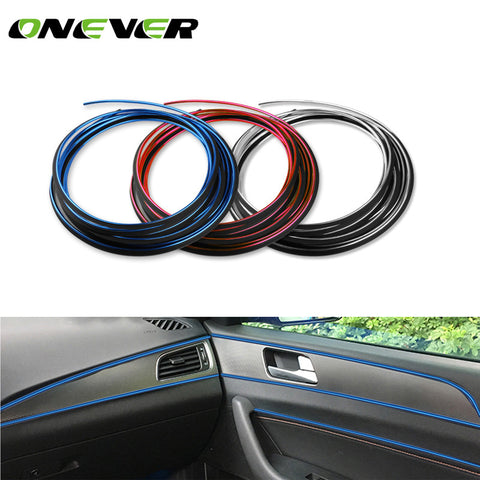 1pcs Universal 5M/16.4ft Car Interior Mouldings Strips Decorative Thread Sticker Accessories Decorative Strip on Car-Styling