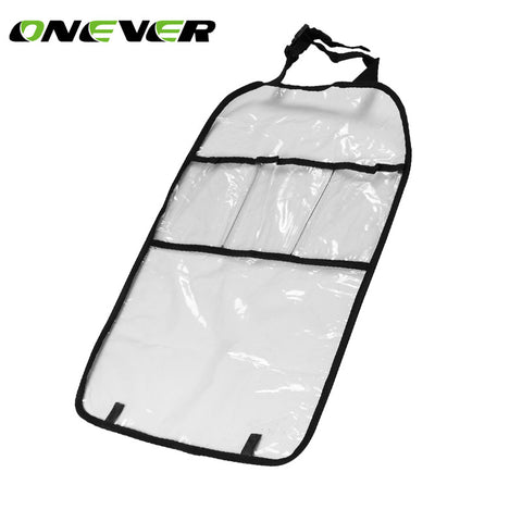 1PC Car Auto Seat Back Protector Cover Car Interior Children Kick Mat Storage Bag Accessories