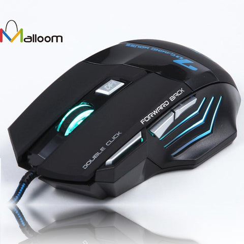 2016 Mouse Game 3200 DPI 7Buttons USB Wired Optical Gaming Mouse Mice For Pro Laptop Computers Mouses Gamer For PC Computer
