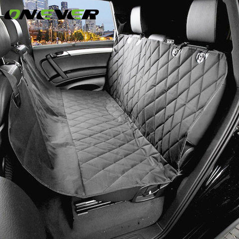Onever Universal Car Dog Seat Cover Pet Car Backseat Covers Slip-proof Waterproof Dog Hammock Slip-proof Car Accessories