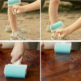 Super Sticky Washable Dust Lint Roller With Cover for Fluff Pet Hair Dust Remover Lint Sticking Dusting Roller