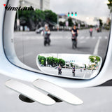 Vingtank 2pcs New 360 Degree Car mirror Wide Angle square Convex Blind Spot mirror for parking Rear view mirror car Accessory