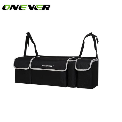 Onever Car Trunk Organizer Backseat Storage Bag High Capacity Multi-fonction Car Seat Back Organizers Interior Accessories