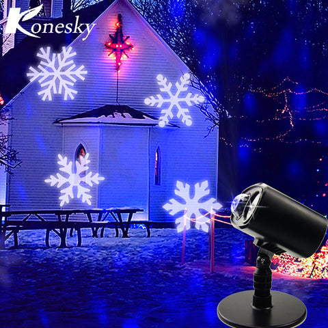 LED Projector Lights Christmas Snowflake Waterproof Landscape Spotlight for Valentine's Day Birthday Wedding Theme Party Garden