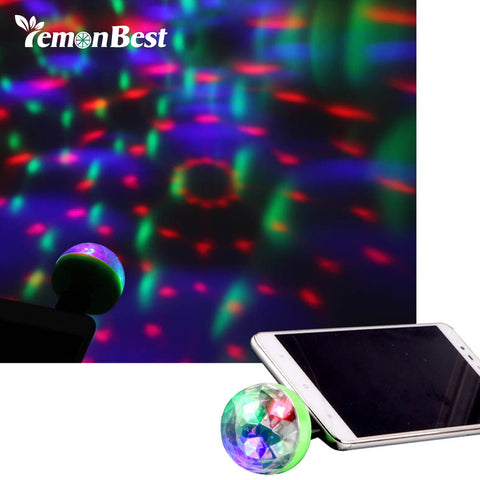 Lemonbest Mini 4-LED Disco Ball USB Powered night Light RGB Lamp Christmas Decoration Projector Rotating Mirror Disco Ball