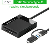 Ugreen All in One USB 3.0 Card Reader SD TF CF MS Micro SD Smart Card Reader for Samsung Sandisk Memory Cards USB SD Adapter