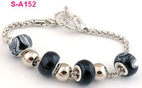1pc handmade charm multicolor European beads bracelet S-A152