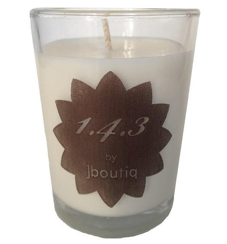 vanilla rose and cardamom candle