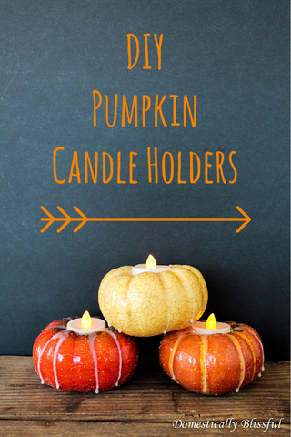 DIY pumpkin tealight candle holder